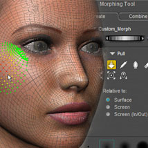 Secrets Of Poser Revealed: The Morphing Tool Tutorials : Learn 3D sixus1