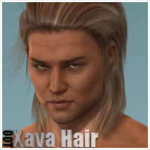 Xava Hair and OOT Hairblending 3D Figure Assets outoftouch