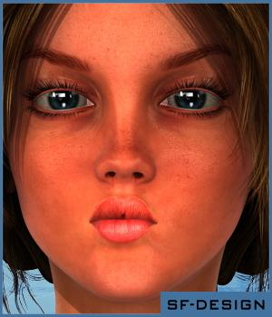 Girl Faces for Josie 6 / G2F 3D Figure Essentials SF-Design