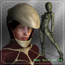 Uber Suit for V4 3D Figure Assets 3D Models smay