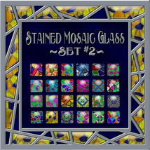 Stained Mosaic Glass-Set #2 Layer Styles 2D fractalartist01