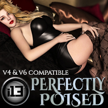 i13 Perfectly Poised for Pin-ups 3D Figure Assets 3D Models ironman13