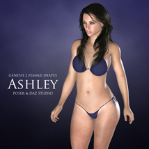 Genesis 2 Female Shapes: Ashley 3D Figure Essentials adamthwaites