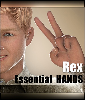 Essential HANDS - Rex 3D Figure Assets 3Dream