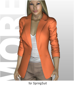 MORE Textures & Styles for SpringSuit 3D Figure Essentials 3D Models motif
