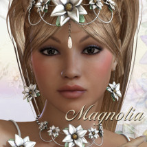 Magnolia 3D Figure Essentials 3D Models JudibugDesigns