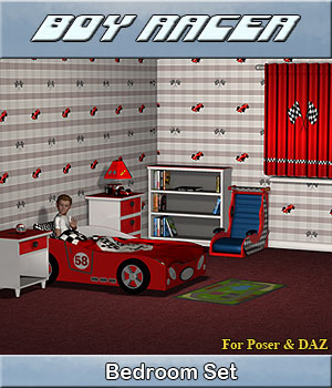 Bedroom Boy Racer 3D Models Simon-3D