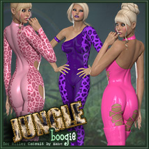 Jungle Boogie for Killer Catsuit 3D Figure Assets catatonia72
