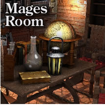 Mages Room 3D Models dexsoft-games