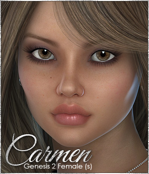 Sabby-Carmen for Genesis 2 Female(s)  3D Figure Essentials Sabby