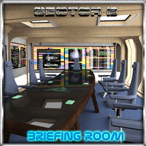 Ship Elements B6: Briefing Room 3D Models 3D Figure Essentials 3-d-c