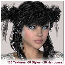AM: Lovely for INNOCNET-Hair- Textures, Poses and Accessoirstyle 3D Figure Essentials Angelmoon