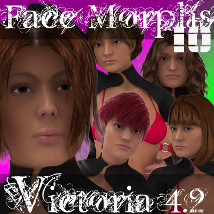 Farconville's Face Morphs 10 for Victoria 4.2 3D Figure Essentials 3D Models farconville