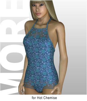 MORE Textures & Styles for Hot Chemise 3D Figure Essentials 3D Models motif