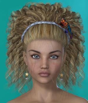 Gema Hair for V4 and G2 3D Figure Assets SWAM