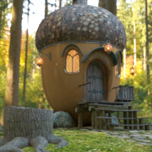 AJ Acorn Fairy House 3D Models -AppleJack-