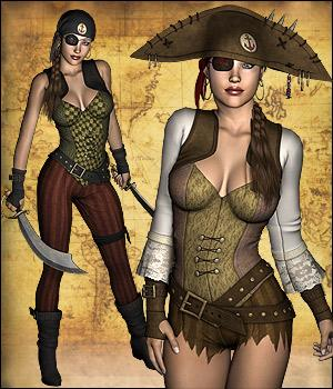 Captain Anne Gaming 3D Models 3D Figure Essentials RPublishing