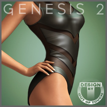 Leather Body for Genesis 2 Female(s) 3D Figure Assets outoftouch