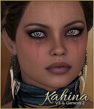 SASE Kahina for V4 and Genesis 2 3D Figure Assets Sabby