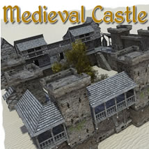 Medieval Castle 3D Models dexsoft-games