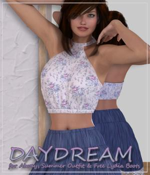 DAYDREAM for Always Summer Outfit & Free Lydia Boots 3D Figure Essentials Anagord