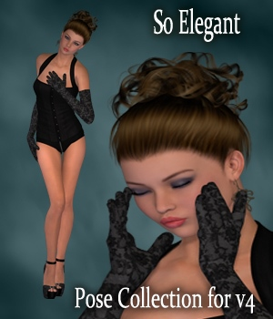 So Elegant Poses for V4 3D Figure Assets 3D Models vanda51