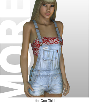 MORE Textures & Styles for CowGirl I 3D Figure Essentials 3D Models motif