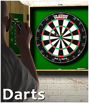 Darts 3D Models 3D Figure Essentials Gaming CaymanStudios