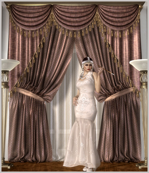 Classic Curtains Set1 3D Models GrayCloudDesign
