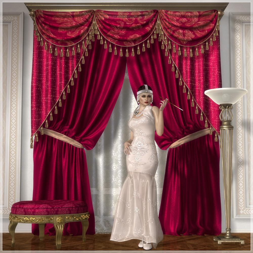 Superior Classic Curtains Set1. This Product Has An Extended License Available. View  The U0027Extendedu0027 Tab Below For Further Details.