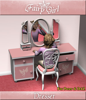 Fairy Girl Dresser 3D Models Simon-3D