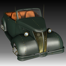 STEAMPUNK HOVER CAR 3D Models Ourias3D