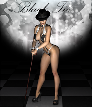 Black Tie 3D Figure Essentials Rhiannon