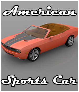 American Sports Car (3ds,Poser, Vue & Obj) 3D Models RPublishing