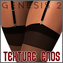 SuperHose Infinite Stocking Texture Ends for Genesis 2 Female(s) 3D Models 3D Figure Essentials outoftouch