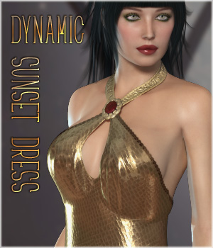Dynamic Sunset Dress V4 3D Figure Assets lilflame