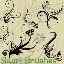 Swirl Photoshop Brushes and PNG 2D skaior