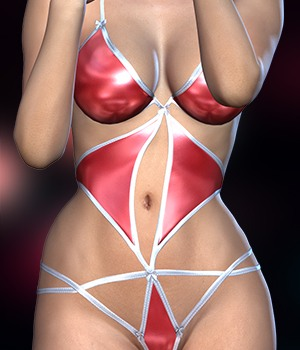 SexyLingerie for Genesis 2 Female(s) 3D Figure Essentials RainbowLight