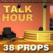 News_Talkshow Studio 3D Models coflek-gnorg