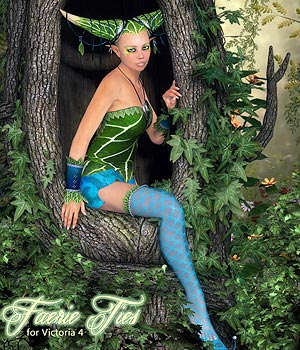 Faerie Ties Outfit 3D Figure Essentials Amaranth