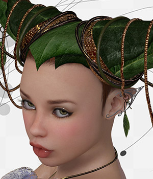 ShoXoloR for Faerie Ties Hair 3D Figure Assets ShoxDesign