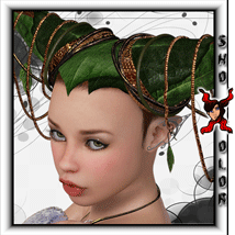 ShoXoloR for Faerie Ties Hair 3D Figure Essentials ShoxDesign