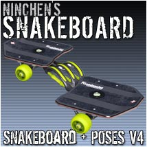 ninchens SnakeBoard 3D Models 3D Figure Essentials ninchen