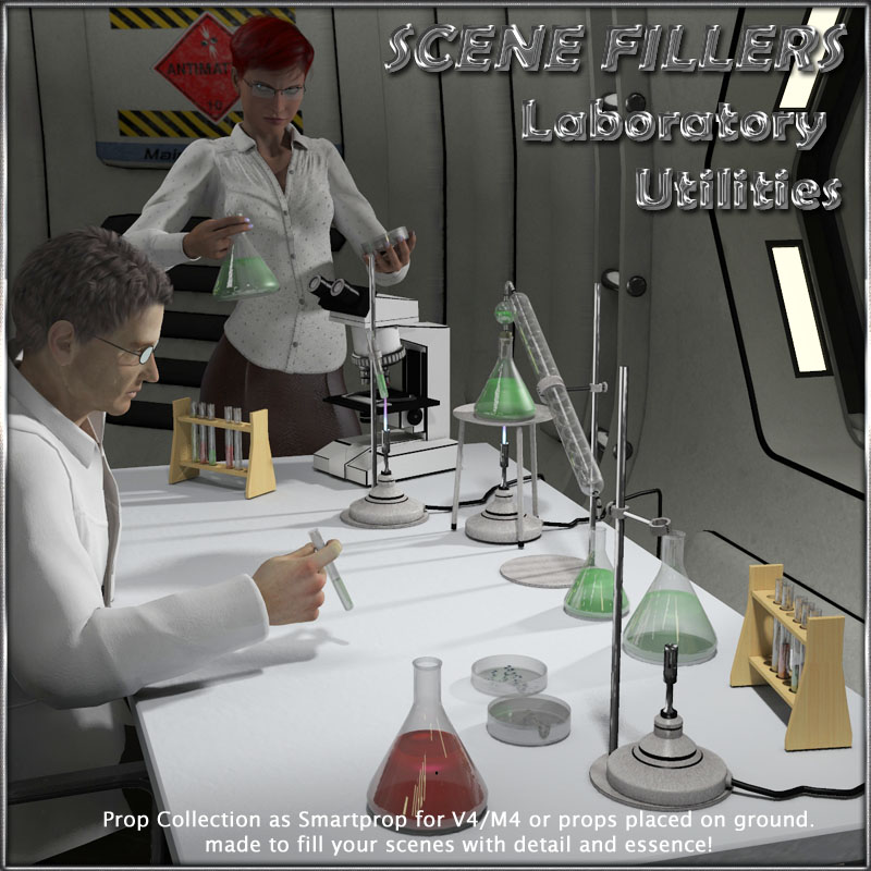 SceneFillers: Laboratory Utilities by 3-d-c