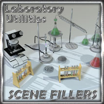 SceneFillers: Laboratory Utilities 3D Figure Essentials 3D Models 3-d-c