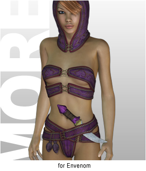 MORE Textures & Styles for Envenom 3D Figure Essentials 3D Models motif
