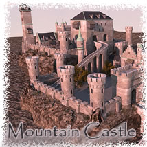 Mountain Castle 3D Models dexsoft-games