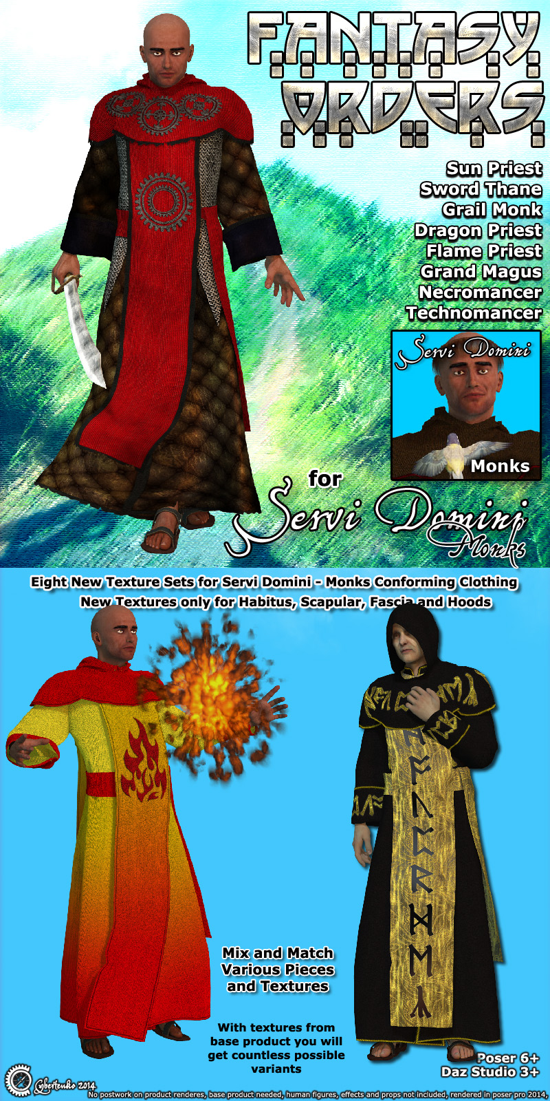 Fantasy Orders for Servi Domini - Monks