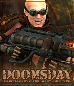 DOOMSDAY for Outlanders: M4 Fireball 3D Figure Essentials Anagord