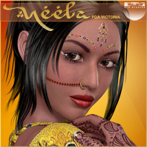 DTG Studios' Neela for V4 3D Figure Essentials DTHUREGRIF